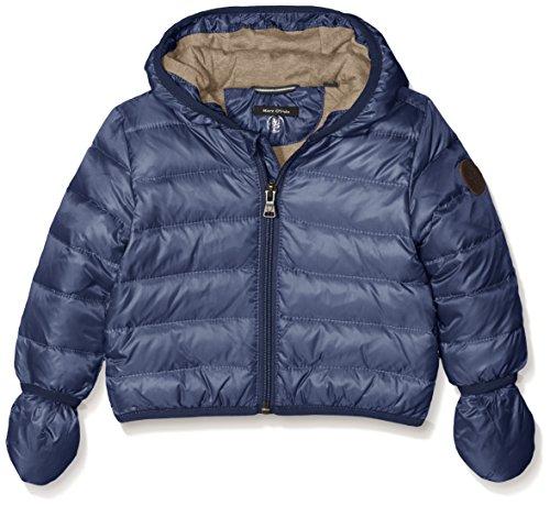 Marc O' Polo Kids Jacke Mit Kapuze Und Abnehmbaren Handschuhen, Giacca Bimba, Blu (Mood Indigo|Blue 3008), 18 Mesi