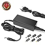 TAIFU 24V 2.7A Chargeur Universel avec 6 Embouts AC to DC 2.1mmX5.5mm Plug 24V 2.73A...