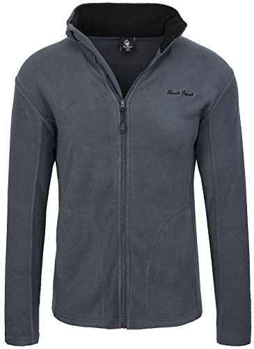 Rock Creek Herren Fleecejacke Sweatjacke Herrenjacke Übergangsjacke H-139 [Darkgrey XL]