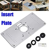 Plaque d'insertion Yefun de table de toupie en aluminium 700C - Avec 4anneaux...