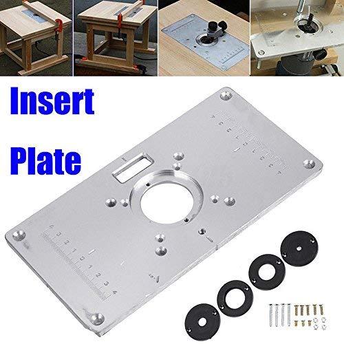 Yefun Aluminium Router Tabelle Insert Plate 235 X 120 X 8 Mm(9.3\'\'x4.7\'\'x 0.3\'\') Für Die Holzbearbeitung Bänke