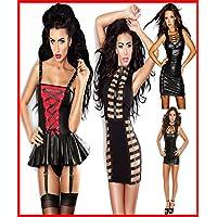 Preisvergleich für Sexy Dessous Kleidung von Tanz Kleidung Performance Uniformen Spiel-Damen Lackleder engrener Siamesische Kleidung...