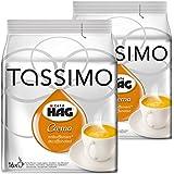 Tassimo Café HAG Crema Decaffeinated, Pack of 2, 2 x 16 T-Discs