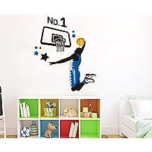 ufengke® Serie de Los Deportes de La Moda Estrellas de Baloncesto Mate Pegatinas de Pared, Vivero Habitación de Los Niños Removible Etiquetas de La Pared / Murales