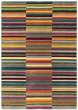 Asiatic Teppich Wohnzimmer Carpet modernes Design Jacob Stripe Streifen Rug 100% Wolle 120x180 cm Rechteckig Mehrfarbig | Teppiche günstig online kaufen