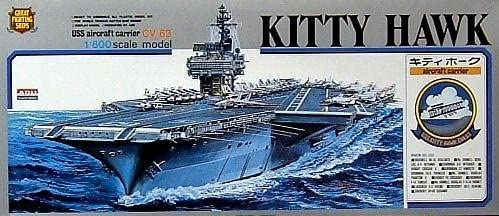 USS USS USS Kitty Hawk CV-63 1-800 Arii (japan import) 15408b