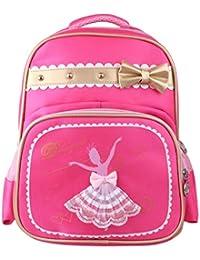 IEFIEL Mochila Infantil Guarderia Bolsa de Ballet Deporte Niña Backpack de Danza  Baile Escolor Bolso con Bolsito Rosa Mochila para… 09f52886401f5
