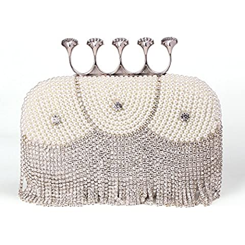 LUcy KA-Mujer diamante perla perla embrague noche bolso de la novia paquete paquete paquete de fiesta de boda de