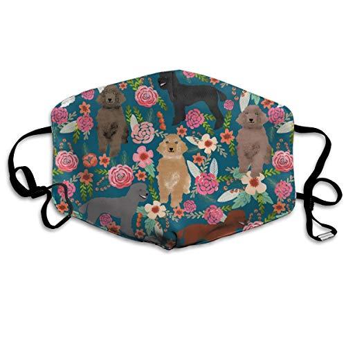 Poodles Pudel-Maske mit Blumenmotiv, für Hunde, Lovers Poodle Owners Will Love This Poodle Anti Dust Mask Washable Wiederverwendbar Mouth Masks -