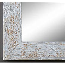 Specchio da parete / bagno - Parma 4,0 - bianco beige marrone - 60 x 90 - AM - molte dimensioni - fatti a mano - Moderno, Shabby
