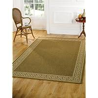 Molto Grande Moderno intrecciato con area marrone tappeto in moquette 60x 230cm (2'x 7' 7)
