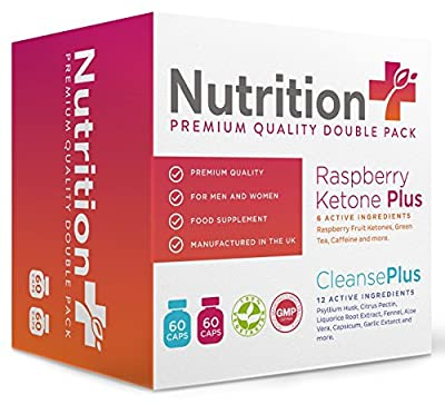 Raspberry Ketone and Colon Cleanse Diet Pack - 2 Free Gifts With Every Order! - For Men and Women - 1 Month Supply - 100% Money Back Guarantee - 100% Suitable For Vegetarians from Nutrition Plus