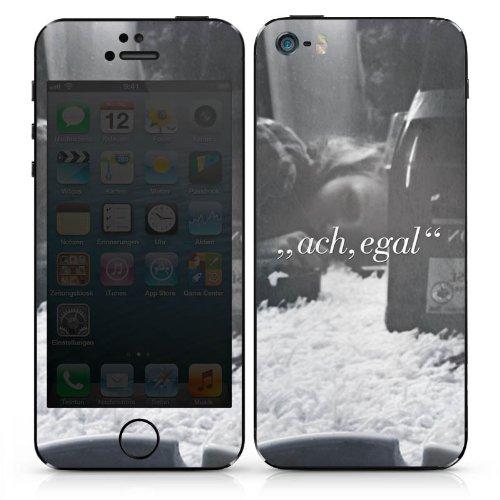 Apple iPhone 4 Case Skin Sticker aus Vinyl-Folie Aufkleber Sprüche Statement Egal DesignSkins® glänzend