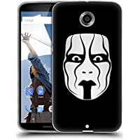 Ufficiale WWE The Mask Sting Cover Morbida In Gel Per Motorola Nexus 6 / Nexus X
