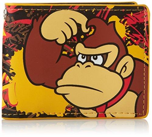 Nintendo Super Mario Bros. Funda de tarjetas de transporte BIO-MW141487NTN Amarillo