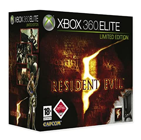 Xbox 360 - Konsole Elite Limited Edition (schwarz) inkl. Resident Evil 5 (Resident Evil Controller)