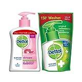 Dettol Skincare Liquid Handwash - 200ml with Free Liquid Handwash Refill - 175ml (Any Variant)