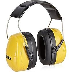 PRETEX casque antibruit professionnel SNR 31 dB avec haut confort grâce à un poids réduit et au serre-tête réglable | protection auditive, protection des oreilles, protection sonore, protecteurs