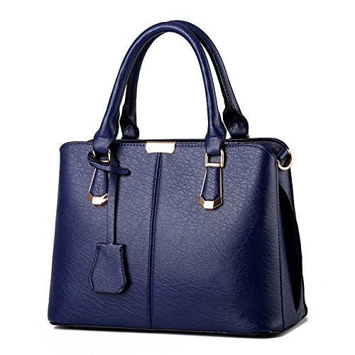 Ruiren Women Casual Fashion Handbag Crossbody Messenger Borsa A Tracolla Tote Satchel Shopping Bag Zaffiro