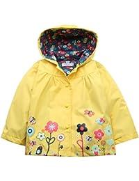 Arshiner Bébés Filles Manteau Imperméable Infant Raincoat Jacket Parapluie à Capuche Manche Longue Fleurs