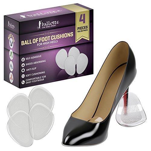 Ballotte Ballenpolster- Gelkissen gegen Fußschmerzen - Fußballenpolster-Geleinlagen für Metatarsalgie, Hornhaut, Blasen - Einlegesohlen für High Heels