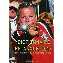Dictionnaire de la pétanque 2017