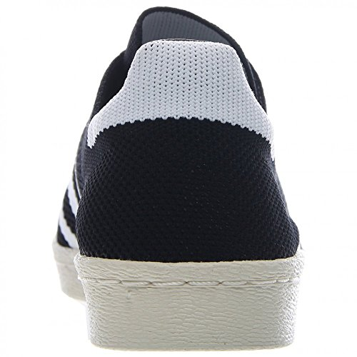 Superstar 80 di Primeknit uomo in nero / bianco Adidas, 9.5 Black / White