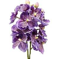 Fleur artificielle Bouquet Vanda Violet Claire 2 pce de 44 cm visuel et toucher comme du vrai