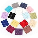 TOLEAP® 16 Stück farbig sortiert Frauen 3-Haken 3 Reihen Abstand Bra Extender Strap BH-Erweiterung von Boolavard (NYK)