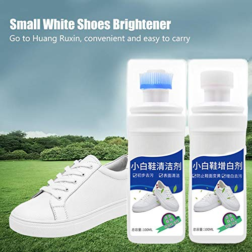 Supertop Small White Shoes Cleaner + Schuhaufheller, Reinigungslösung Für Polnische Schuhe. Lassen Sie Ihre Kleinen Weißen Schuhe Wie Neu Aussehen