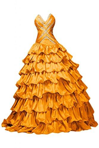 Sunvary -  Vestito  - Donna Arancione