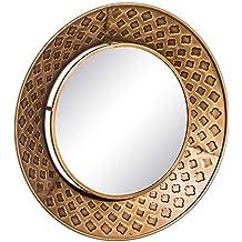 b6d22544c234 Espejo Redondo de Metal Dorado árabe para salón de 80 cm Arabia - LOLAhome