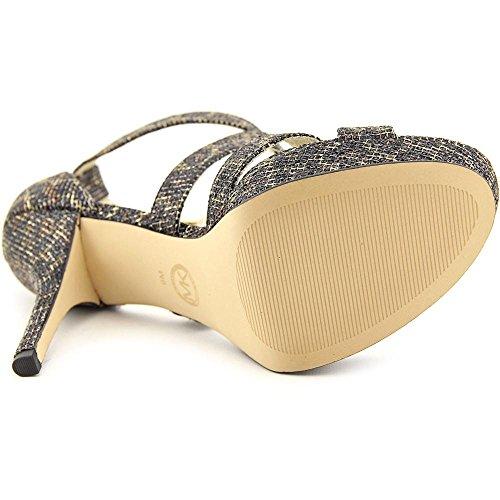 Michael Michael Kors Evie Platform Toile Sandales Cheetah Brn
