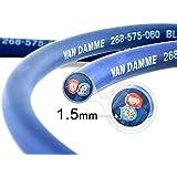 Câble d'haut-parleurs Twin-Axial (Bi-axial) Van Damme Séries Bleues Professionnel Grade (2 câbles centraux, bleu et rouge) 2 x 1.5mm 268-515-060 4 Meter / 4m