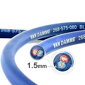 Van Damme Professional Blue Series Studio Grade 2 x 1.5 mm (2 core) Twin-Axial Speaker Cable 268-515-060 3 Metre / 3M