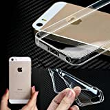 Defender Ultra Thin 0.3mm Clear Transparent Flexible Soft TPU Slim Back Case Cover For Apple iPhone 5 / 5s(Transparent)