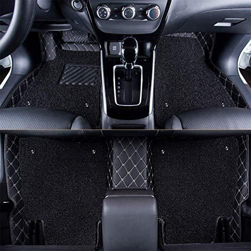 RUIX Auto Fußmatten,Doppelschicht Automatte 4 Jahreszeiten Universal Für 5-Sitzer Autos, Umweltfreundliche Materialien, Rutschfeste Tragen,Black