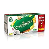 #3: Chandrika Ayurvedic Soap, 125g (Pack of 6)
