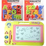 Combo Of Magnetic Learning Alphabets And Numbers (ABC &123) With Drawing ,writing Magic Slate For Kids