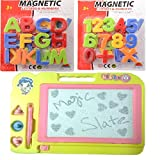 #10: Combo of Magnetic Learning Alphabets and Numbers (ABC &123) with drawing ,writing Magic Slate for kids