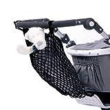 Smart-Planet® hochwertiges Universal Kinderwagen Einkaufsnetz Einkaufs- Tasche mit Innenfutter / Einfache Anbringung mit Klett - Einkaufstasche / Tragetasche in schwarz