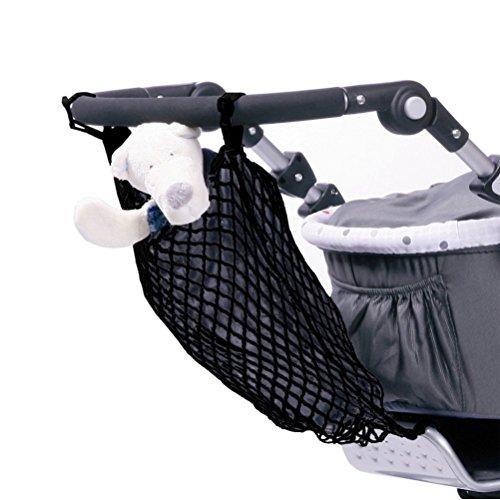 Smart-Planet® hochwertiges Universal Kinderwagen Einkaufsnetz Einkaufs- Tasche mit Innenfutter/Einfache Anbringung mit Klett - Einkaufstasche/Tragetasche in schwarz