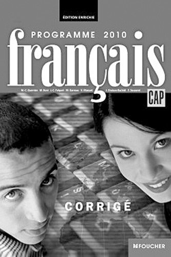Français CAP Corrigé