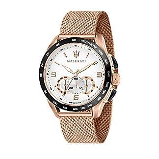 Reloj para Hombre, Colección Traguardo, con Movimiento de Cuarzo y función cronógrafo, en Acero y pvd Oro Rosa – R8873612011
