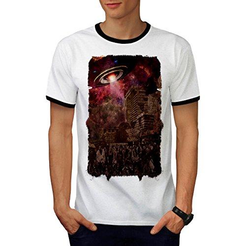 Armee Kostüme Klon (Armee Toter Mann UFO Zombie Tot Monster Herren M Ringer T-shirt |)
