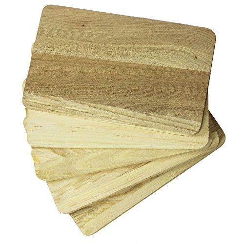 COM de Four® 5x tabla de cortar, Tabla para desayuno de madera, como tabla de cocina o tabla para cortar pan, 21,5x 14cm