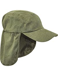MENS LEGIONNAIRES HAT 100% cotton Olive sun safe bush cap Gents wide and long neck cover hiking
