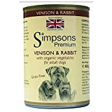 Simpsons Premium 400g Venison & coniglio casseruola Adult Dog Food