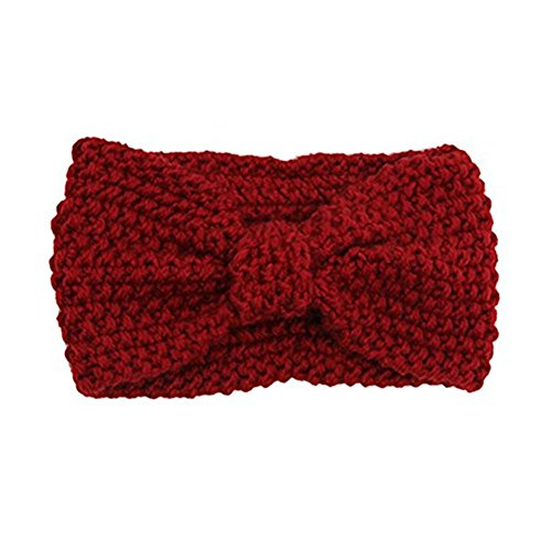 Damen Gestrickt Stirnband Häkelarbeit Schleife Design Winter Kopfband (Stirnband Hut)