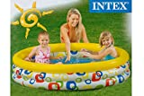 Planschbecken INTEX 3 Ring Pool gelb bunt 147 x 33 cm Kinder